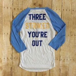 8eab0e887 PINK Victoria s Secret Tops - VS PINK Kansas City Royals sequin baseball tee